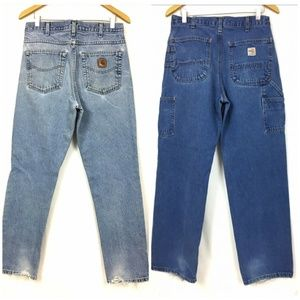 Carhartt Jeans 2 pair 32×32 Carpenter & Straight
